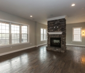 Custom Built Floor Plan 2 Sided Fire Place