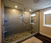 Custom Built Floor Plan Master Shower