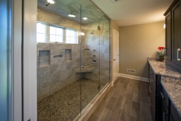 Large custom shower