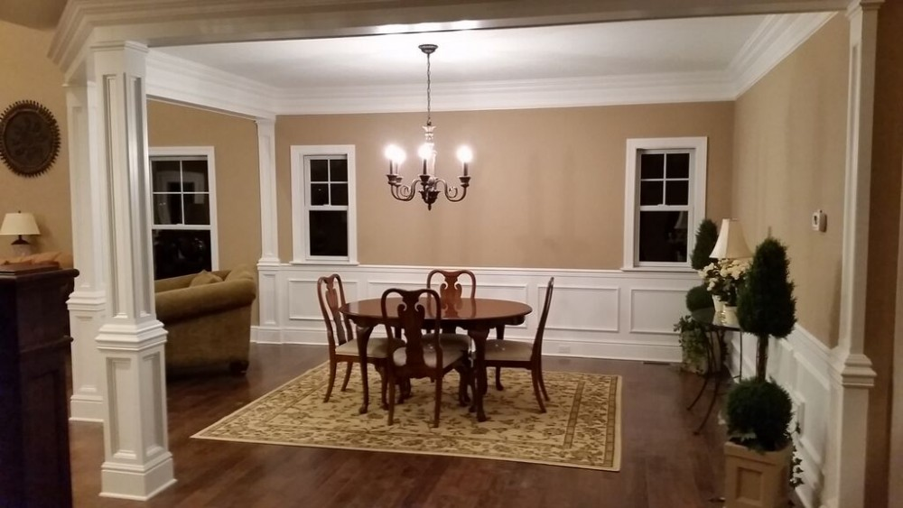 Fair acres model home pittsburgh custom home builder for Model home dining room
