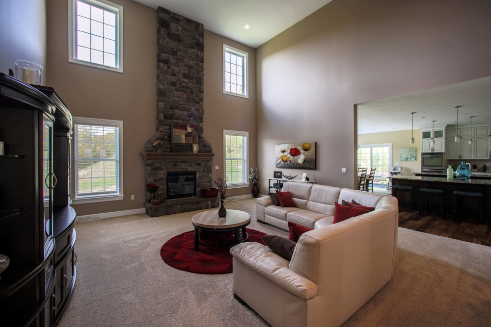 Pittsburgh custom homes living and great rooms photo gallery for Homes with great rooms