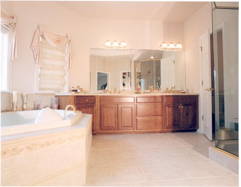 Melissa and Bernie's Custom Home Master Bath The Shaughnessy