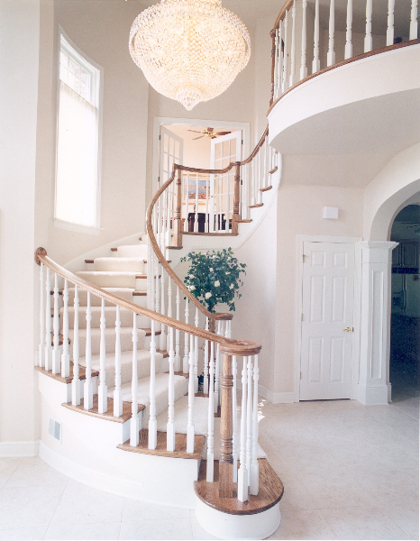 Melissa and Bernie's Custom Home Stairs The Shaughnessy