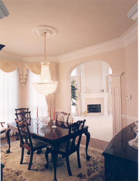 Melissa and Bernie's Custom Home Dining Room The Shaughnessy