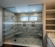 Custom Home Plan Master Shower