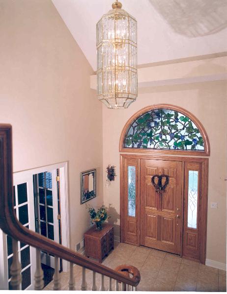 Sue and Bob's Custom Home Interior Entrance