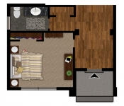 Custom Home Plan 1st Floor Bedroom