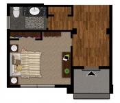 Custom Home Plan 1st Floor Bedroom