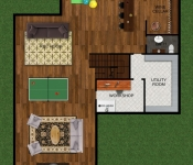 Custom Home Floor Plan Basement