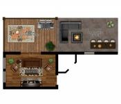 Custom Home Floor Plan Covered Patio