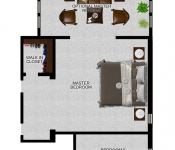 Custom Home Floor Plan Master Retreat