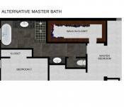 Custom Home Floor Plan Master Bath