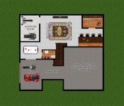 Custom Home Basement Floor Plan