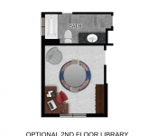 Custom Home Plan 2nd Floor Library