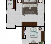 Custom Home Floor Plan 5th Bedroom Option