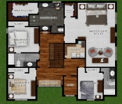 Custom Home Floor Plan 2nd Floor