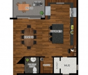 Custom Home Plan Enlarged Kitchen Option