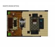 Custom Home Floor Plan Hearth Room