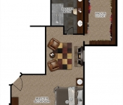 Custom Home Floor Plan Master Suite