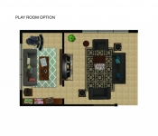 Custom Home Floor Plan Playroom Option