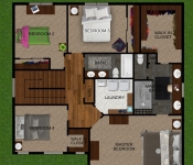 Custom Home Plan Second Floor