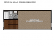 Custom Home Floor Plan Third Floor Option