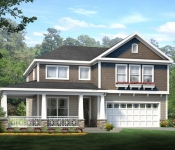 Custom Home Plan Exterior Rendering