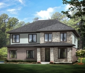 Custom Home Plan Modern Exterior