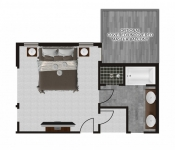 Custom Floor Plan Master Bedroom Deck
