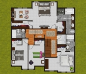 Custom Home Builder Floor Plan Second Floor