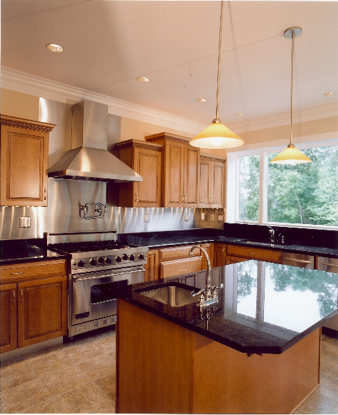 Thuy and Wu's Custom Home Kitchen the Bridgeport