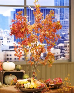 Fall branch centerpiece by Martha Stewart