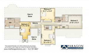 Venango Trails Upper Floorplan