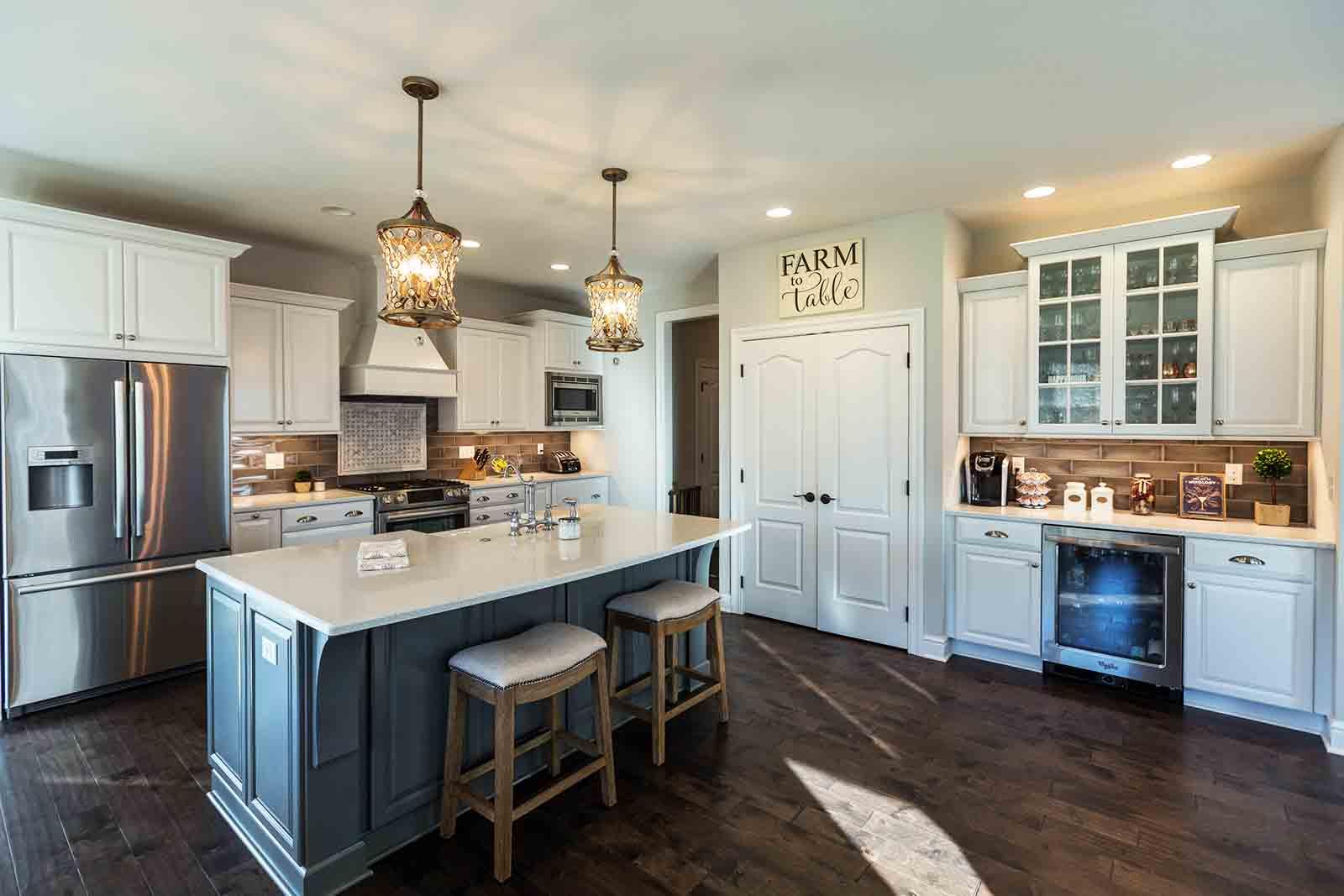 Custom homes kitchen Deerfield Ridge