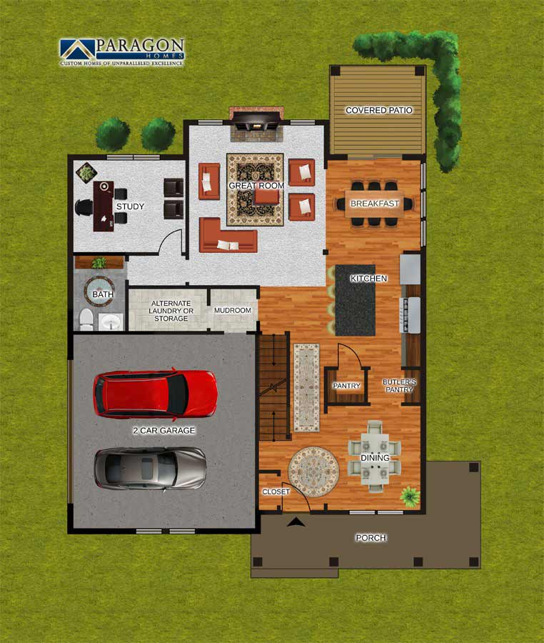 First_Floor_Custom_Home_Plan_Newport
