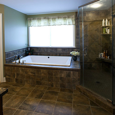 custom homes bath photo gallery