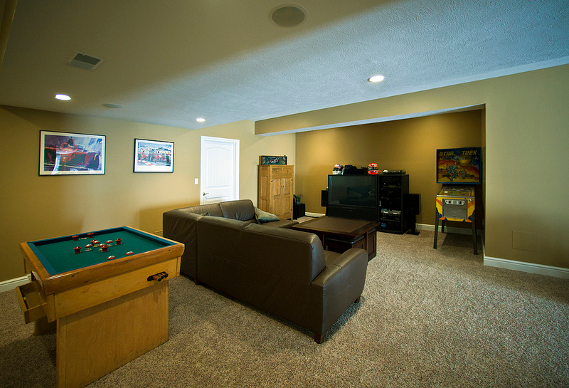 custom homes game room