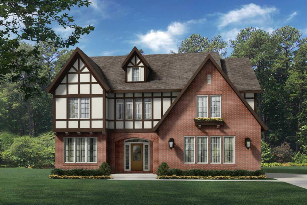Asheville Custom home plan Standard elevation
