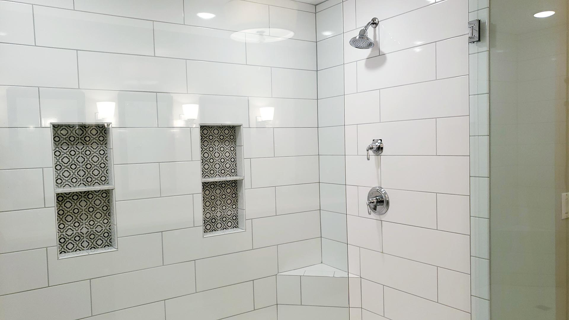 master bath shower - Parkside Meadows model