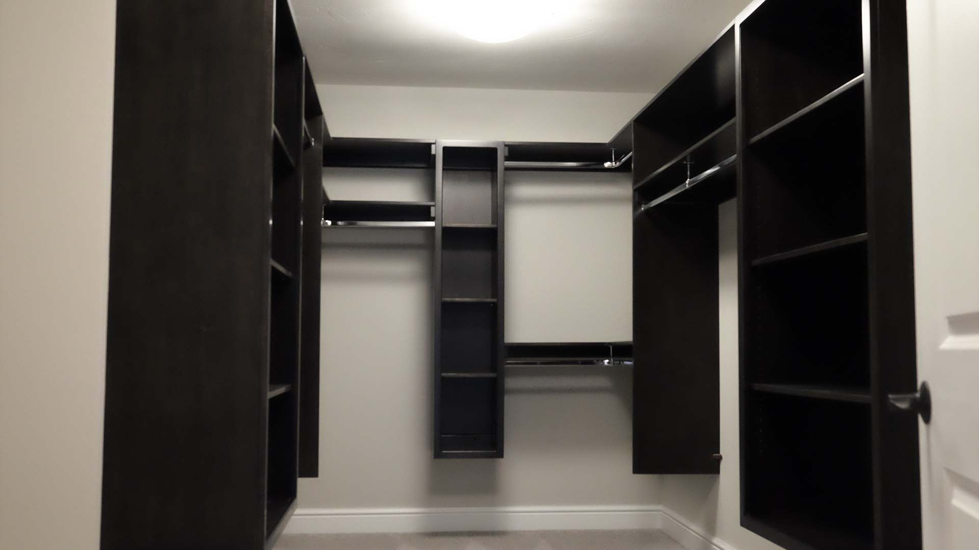 master bedroom walk in closet- Parkside Meadows model