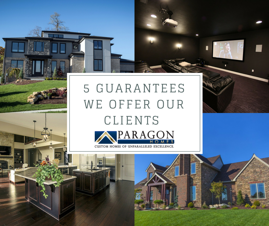 Paragon Homes' Guarantee