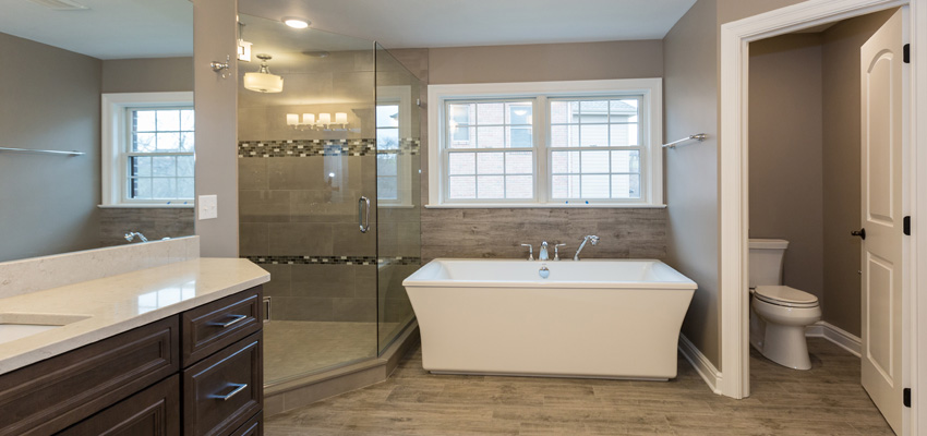 Master Bathroom in Custom Home
